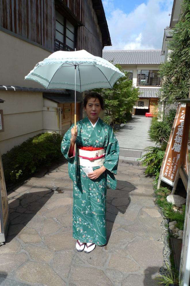 Some kimono wearing woman